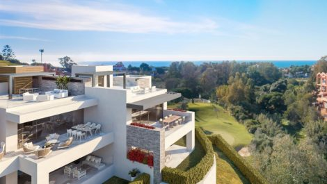 New penthouses for sale in Cabopino in