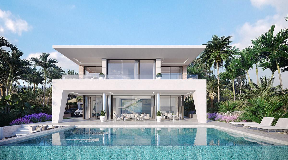 Wonderful villas for sale in Estepona in