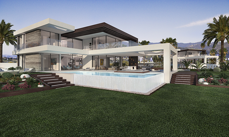 Luxury villas in the New Golden Mile in
