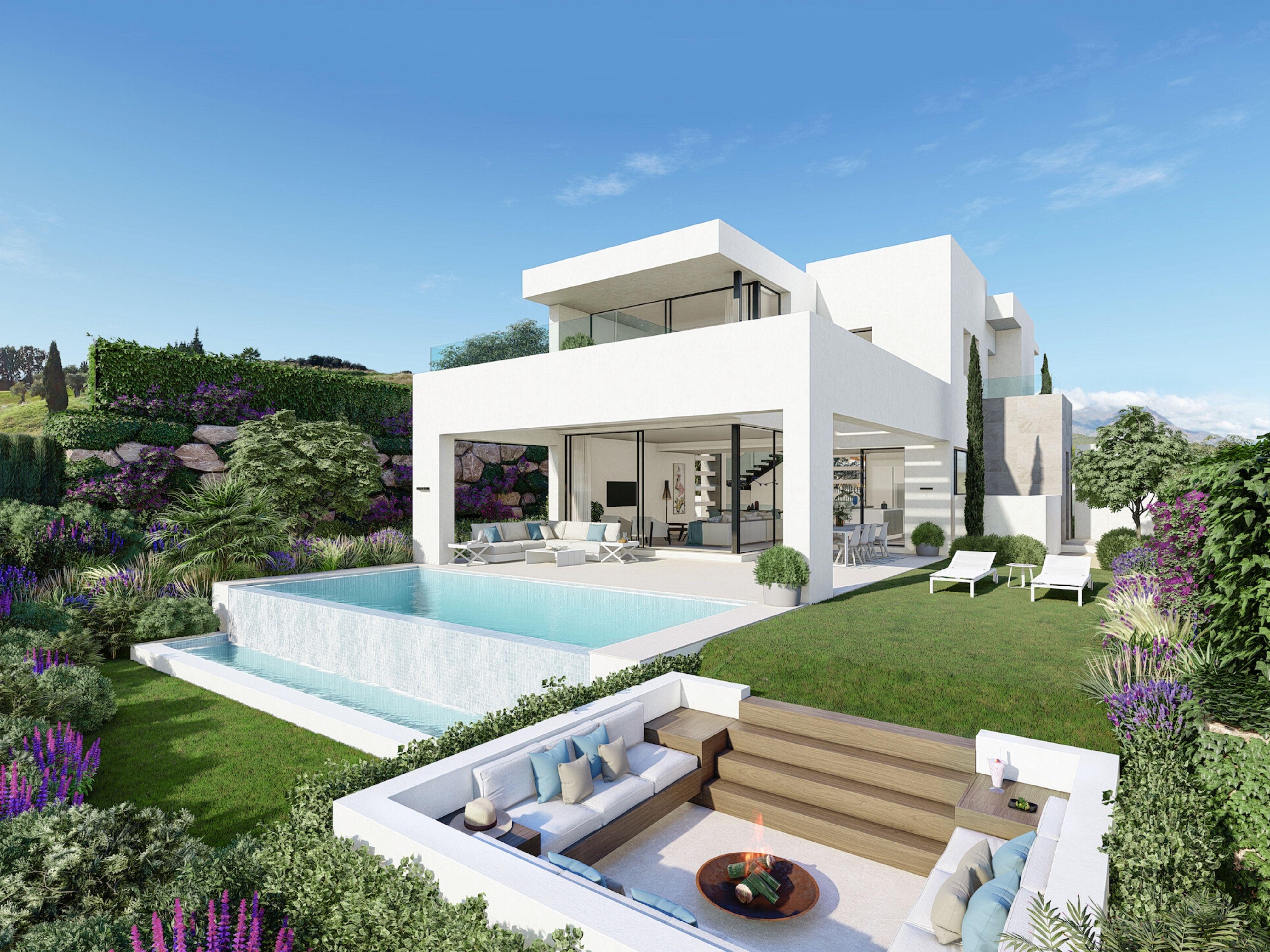 Villas de lujo en el corazón de Estepona Golf en