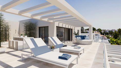 Modernos apartamentos y áticos en El Campanario, Estepona en