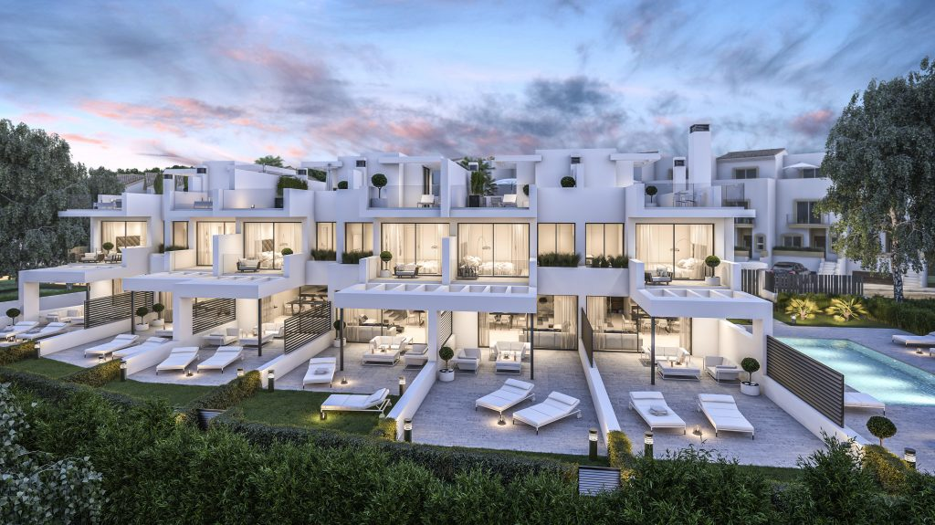 New townhouse complex by the sea